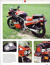 1986 Suzuki GSXR 750 Motorcycle Article - Must See !!