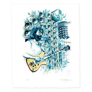 Jerry Garcia Stella Blue Letter Press LE Print AJ Masthay signed #/500