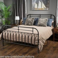 Denise Austin Home Yucatan Queen Charcoal Iron Bed
