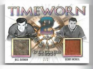 BILL DURNAN & GERRY MCNEIL -20-21 LEAF (ITG) IN THE GAME USED TIMEWORN MEM 2/2