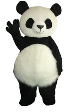 Long Hair Chinese Panda Bear Mascot Costume Halloween Cosplay Party Dress Outfit