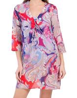 NWT $228 GOTTEX Swimwear Cover-Up Cabana Relaxed Cover up Medium M Swim Dress