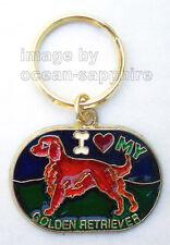 GOLDEN RETRIEVER Dog Key Ring Keychain Key Chain NEW! Great Gift! Animal Pet