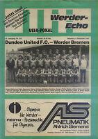 EC III 82/83 Werder Bremen - Dundee United, 08.12.1982