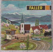 Faller  -- Modellbau Jahres Katalog  1963/64, Sprache Niederländisch !