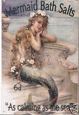 Plaque Métal 30x40 cm SALLE DE BAINS - Mermaid Bath Salts