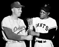 1954 Duke Snider Willie Mays 8X10 Photo - Dodgers Giants  Buy Any 2 Get 1 FREE
