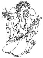 Unmounted Rubber Stamp, Christian, Angels, Flowers, Daisy, Daisies, Angel Stamps