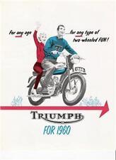 1960 Triumph full model line brochure 4 page catalog
