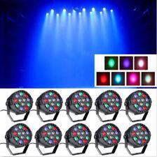 10PCS 36W RGB 12 LED Par Can Stage Lighting DMX Party Bar DJ Disco Wash Light