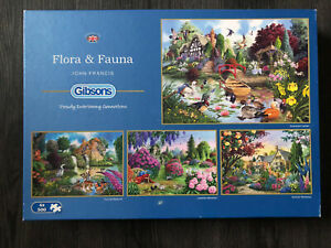Gibsons 'Flora & Fauna' 4 x 500 piece jigsaw puzzles - excellent condition