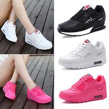 Mujer Con Cordones Zapatillas Running Deporte Zapatos Casual Senderismo