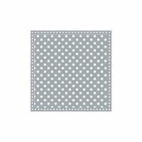 Krasilnikoff Servietten Happy Dots Grau 33x33 cm 20 Stück Papier Serviette