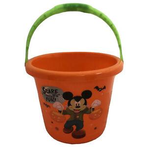 Disney Mickey Mouse Halloween Bucket Pail Light Up Handle Trick Treat Beach Toy