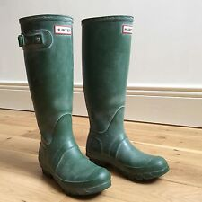 Auténticos botas Hunter Original Wellington Wellies Verde W23177 Reino Unido 4 37