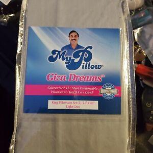 "My Pillow Giza Dreams King Pillow Case Set of Two 21""x 40""  Pillowcase New"