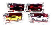 4 JADA Metal Die Cast Cars JDM Tuners-'74 Mazda 95 Honda 90 Miata