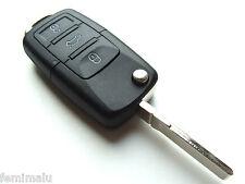 Seat Alhambra Altea 3 Button Flip Remote Key Fob Case + Blank HAA Blade