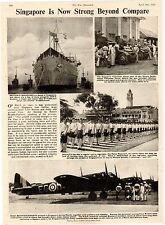 Army WW2 old print 1943 WWII Singapore volunteer Corps submarine R.A.F. Malay