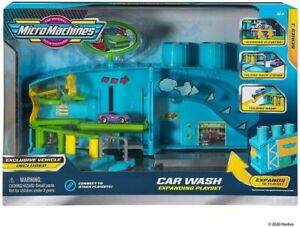 Micro Machines Transforming Car Wash Expanding Playset Brand New