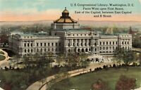 Postcard US Congressional Library Washington DC