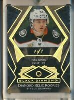 2019-20 Black Diamond Diamond Relics Rookies Max Jones 1/1 Anaheim Ducks 1 of 1