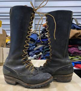 Men's Whites Boots 16 inch Smoke Jumper Lineman Logger Size 10.5 C