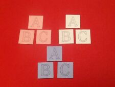18 x ABC baby block die cuts (various colours) **FREE POSTAGE**