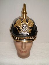 WW1 German/Prussian picklehaube  Officer's helmet  Braunschweig I.R. 92 badge.