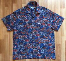 Vtg Rusty Surfboards Mens Fire/Water Asian Dragon S/S Button Down Shirt Sz M C4