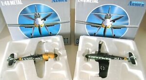 LOT ~ Armour Collection 1:48 Scale BF-109F Messerschmitt Luftwaffe 98011 & 98012