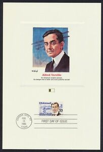 #C113 33c Alfred V Verville, Fleetwood Proofcard **ANY 5=FREE SHIPPING**