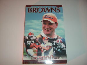 2001 Cleveland Browns Press Book / Media Guide
