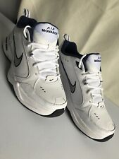 new styles d07a0 cf3ec Nike Air Monarch IV Men s Shoes 12 D US White Navy Blue Run Athletic 415445-