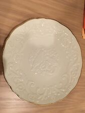 Lenox China Anniversary 12-3/4'' Plate - Lovebirds - Gold trim Made in USA