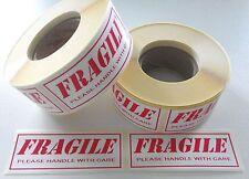 FRAGILE ETICHETTE-ADESIVI 500 su un rullo 85mm x 34mm ADESIVI maneggiare con cura