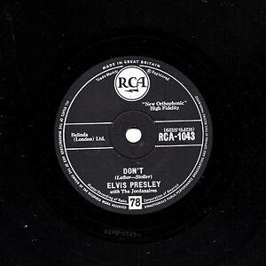 1957 UK No.2 CLASSIC  ELVIS PRESLEY 78   DON'T / I BEG OF YOU   RCA 1043 V+/E-