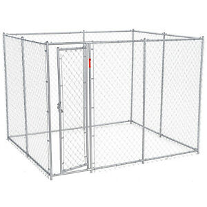 Lucky Dog 10' x 5' x 6' Heavy Duty Steel Outdoor Chain Link Dog Kennel Enclosure
