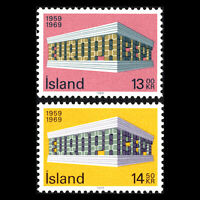 Iceland 1969 - EUROPA Stamps - Sc 406/7 MNH