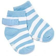 Stay-on Baby Socks Blue Stripe  0-3 Months)