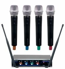 VOCOPRO Four-Channel UHF Digital Wireless Handheld Microphone Mics System-H4