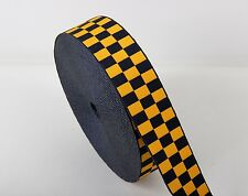 Assorted Cap Ribbon Traffic Warden - Yellow & Navy Blue - Diced