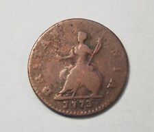 Great Britain Farthing 1773 Copper Coin England UK 1/4 Penny King George III