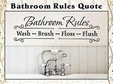 Bathroom Rules Quote Saying Vinyl Wall Art Decals Stickers Home Decor D53