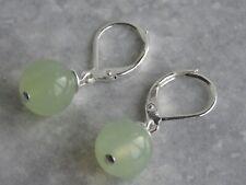 Green New Jade Semi Precious Stone Lever Back Earrings