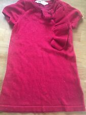H&M Girls Red Sparkly Dress 2-3years/98-104cm