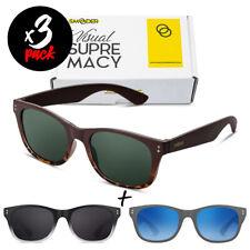 Tris occhiali da sole SMOODER Pack IDOL [Premium] uomo/donna sportivi fashion