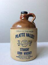 Vintage McCormick Platte Valley Straight Corn Stoneware Whiskey Jug Bottle Empty