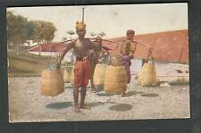 c 1909 unmailed Tea and Coffee Trade Journal post card- Java native transporting