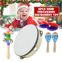 Children's Musical Instrument 6Pcs Toy Set Wooden Percussion Developmental Toys